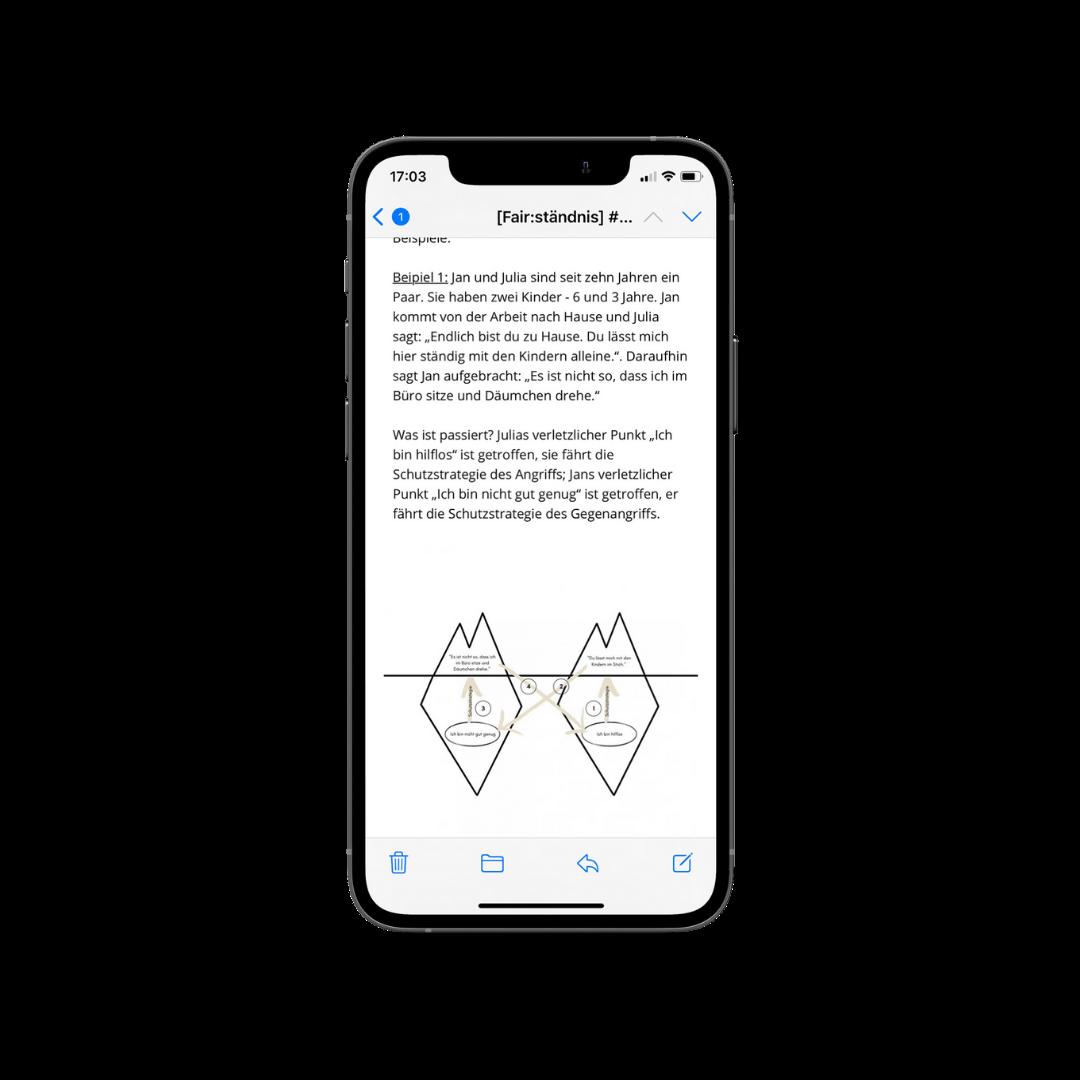 Mockup iPhone mit geöffneter E-Mail
